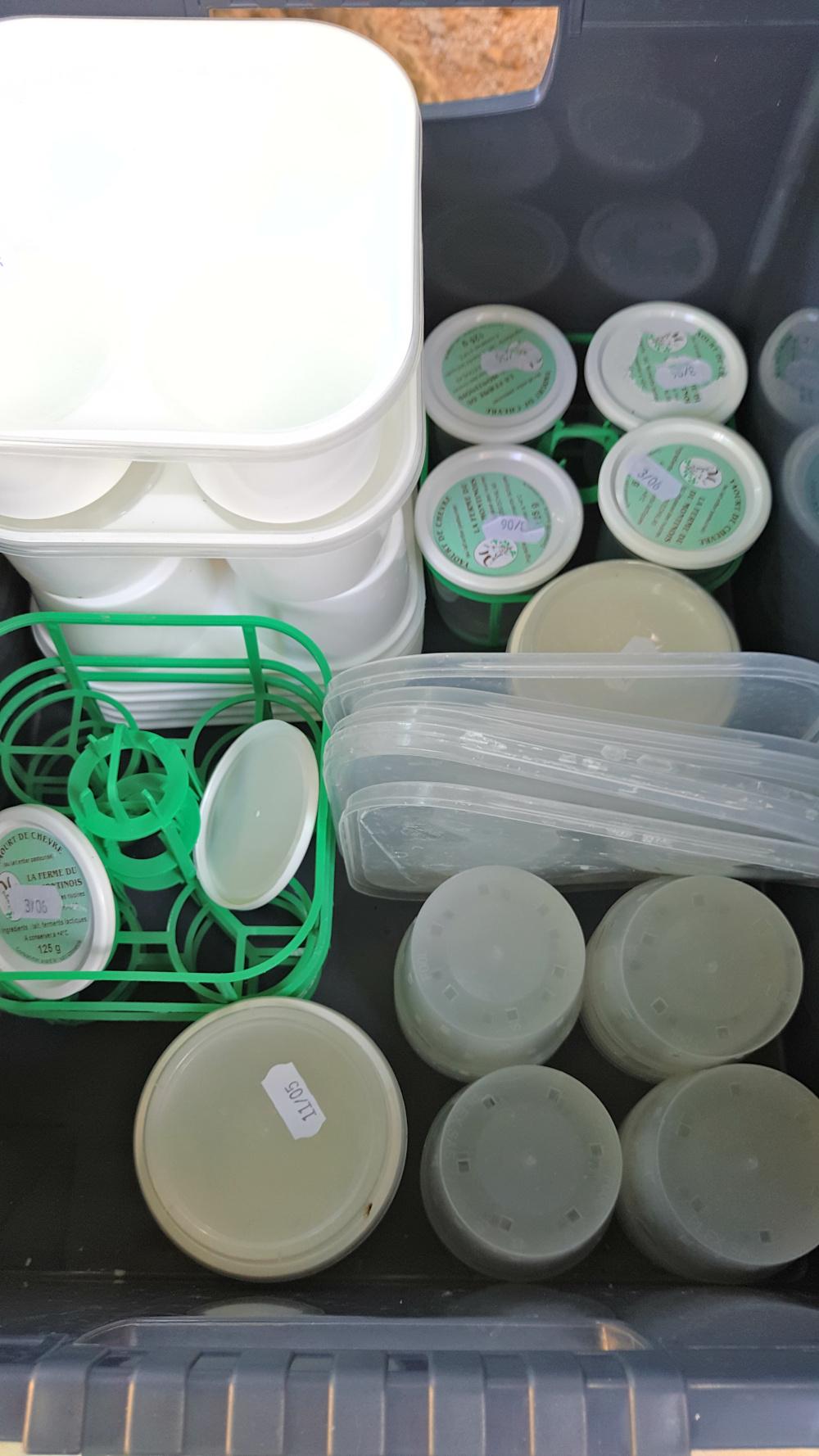 Pot de produits laitiers